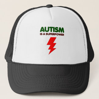 Autism is super power, children, kids, mind mental trucker hat