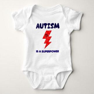 Autism is superpower, mental condition health mind baby bodysuit