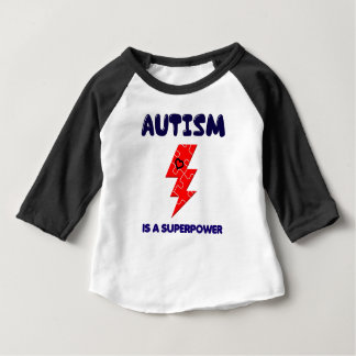 Autism is superpower, mental condition health mind baby T-Shirt