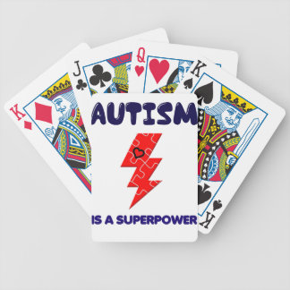 Autism is superpower, mental condition health mind bicycle playing cards
