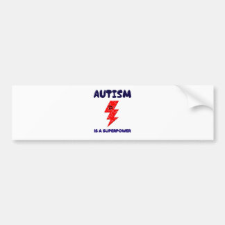 Autism is superpower, mental condition health mind bumper sticker