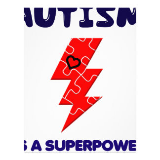 Autism is superpower, mental condition health mind letterhead