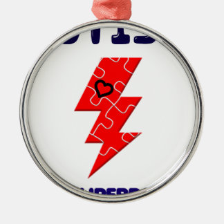 Autism is superpower, mental condition health mind metal ornament