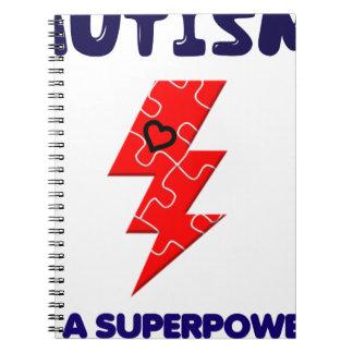 Autism is superpower, mental condition health mind spiral notebook