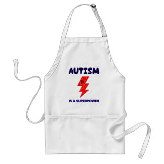 Autism is superpower, mental condition health mind standard apron