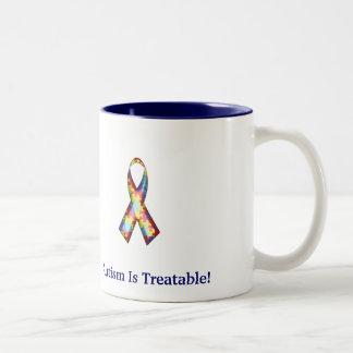 Autism Is Treatable! Two-Tone Coffee Mug