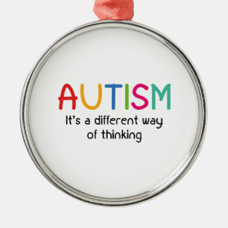 Autism It's A Different Way Of Thinking Silver-Colored Round Ornament