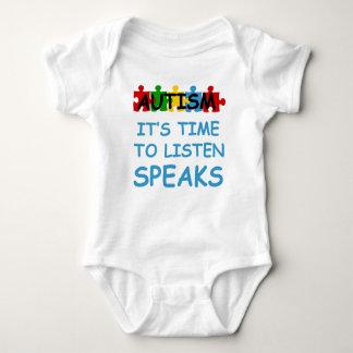 autism it's time to listen speaks baby bodysuit