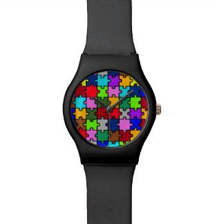 Autism jigsaw wristwatches