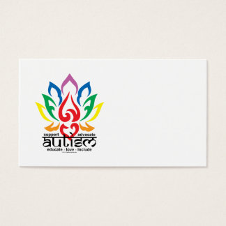 Autism Lotus Flower Business Card