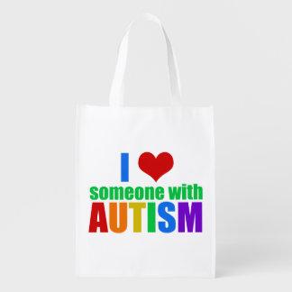 Autism LOVE Reusable Grocery Bag