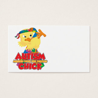Autism Messed With The Wrong Chick Business Card