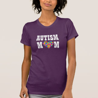 """Autism Mom"" Jigsaw Puzzle Heart T-Shirt"