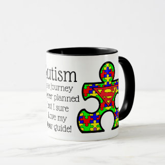 Autism Mug with Super Dad. Makes a great gift.