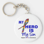 Autism My Hero is My Son Key Chains