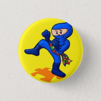 Autism Ninja 1 Inch Round Button