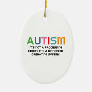 Autism Operating System Ceramic Oval Ornament