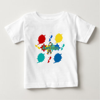 Autism painted baby T-Shirt