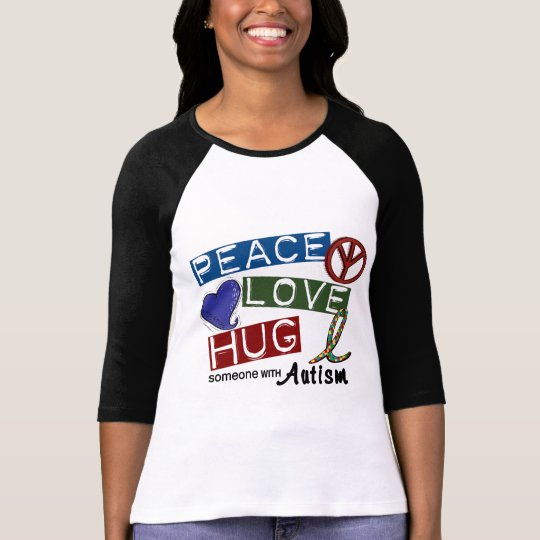 Autism PEACE LOVE HUG T-Shirt