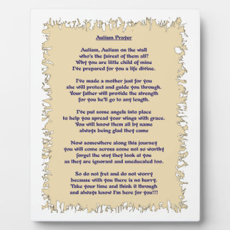 Autism Prayer Plaque
