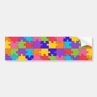 autism puzzle bumper sticker