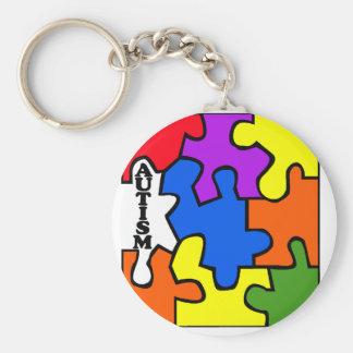 Autism Puzzle Keychain
