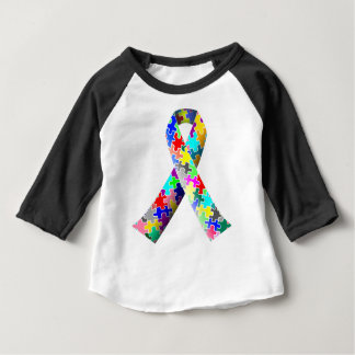 Autism Puzzle Ribbon Baby T-Shirt