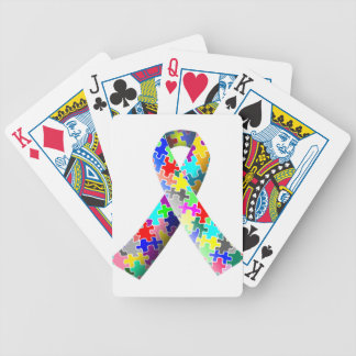 Autism Puzzle Ribbon Bicycle Playing Cards