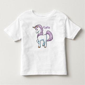 Autism Puzzle Unicorn NAME Tagless T-shirt 4-5T