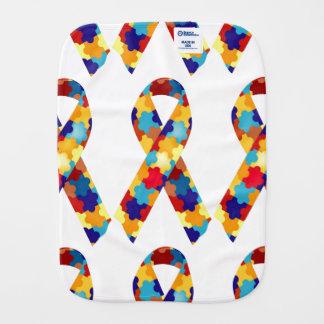 Autism Puzzles Burp Cloths