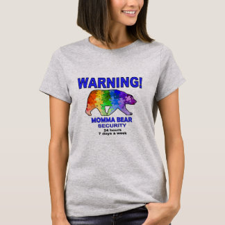 Autism Rainbow Puzzle Momma Bear T-Shirt