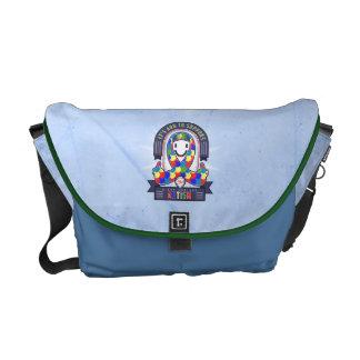 Autism - Retro Charity Ribbon - Messenger Bag