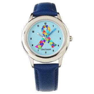 Autism Ribbon Blue Custom Kids Watch