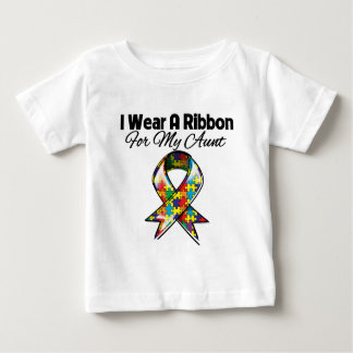 Autism Ribbon For My Aunt Baby T-Shirt