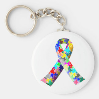 Autism Ribbon Keychain