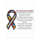 Autism Ribbon meaning Postcards