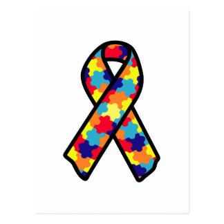 Autism Ribbon Postcard