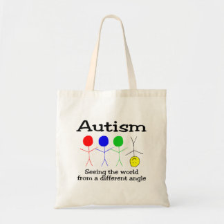 Autism Seeing The World From A Different Angle Budget Tote Bag