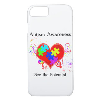 Autism Shining Heart Case-Mate iPhone Case