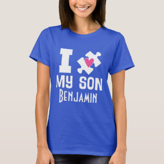 Autism Son Personalized Awareness T-shirt