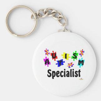 Autism Specialist Basic Round Button Keychain