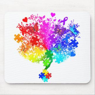 Autism Spectrum Tree Mouse Pad