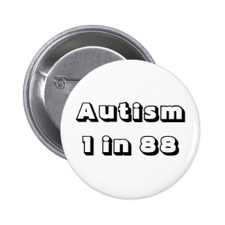 Autism Statistics for Awareness 2 Inch Round Button