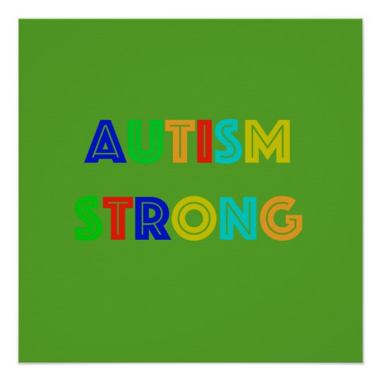Autism Strong Green Poster