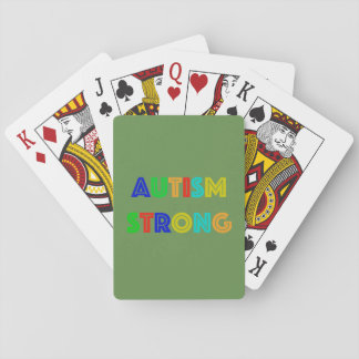 Autism Strong Playing Cards