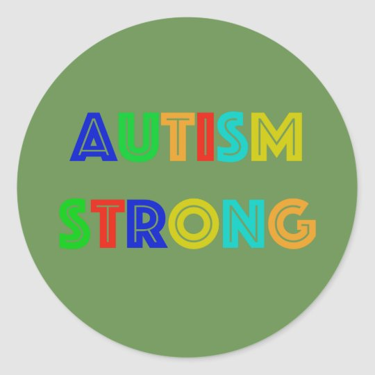 Autism Strong Stickers