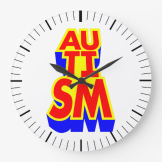 Autism Superhero Large Clock