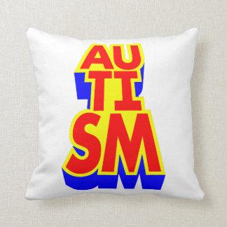 Autism Superhero Throw Pillow