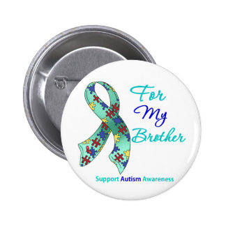 Autism Support For My Brother Pin