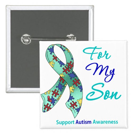 Autism Support For My Son Pin